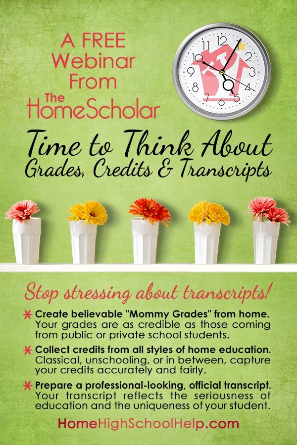 [Free class] Time to Think About Grades, Credits, and Transcripts