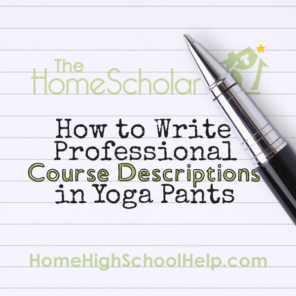 How to Write Professional Course Descriptions in Yoga Pants