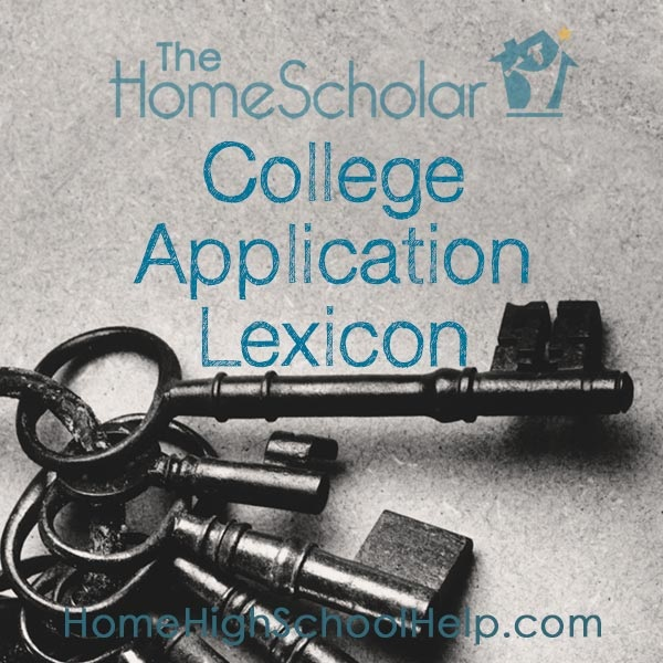College Application Lexicon