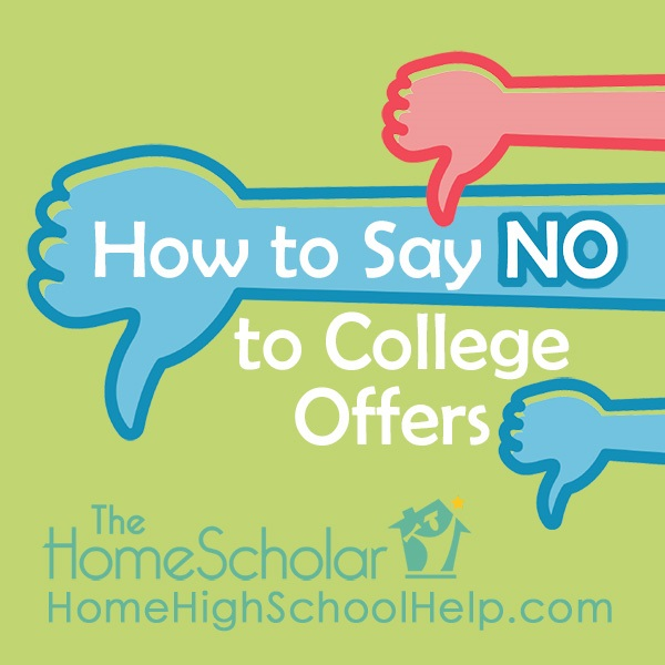 say no to college offers