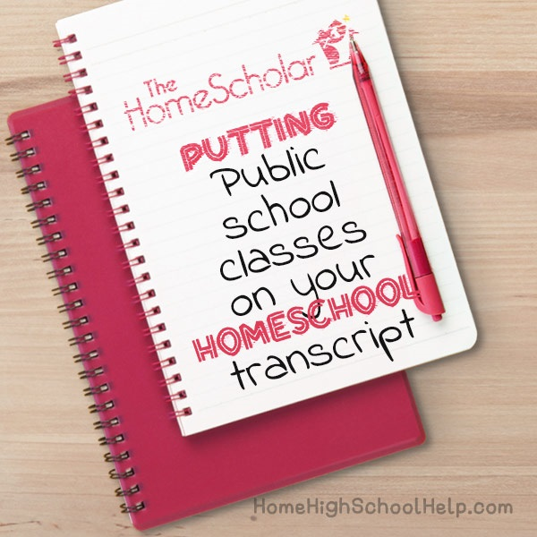 public school classes on your homeschool transcript
