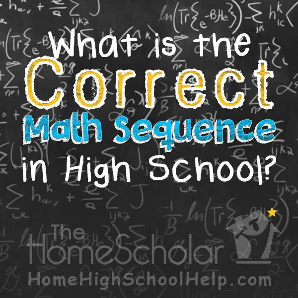 math sequence in high school