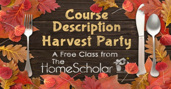 Course Description Harvest Party November 19 & 21
