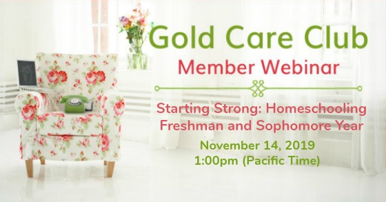 Gold Care Club Webinar: November 14, 2019