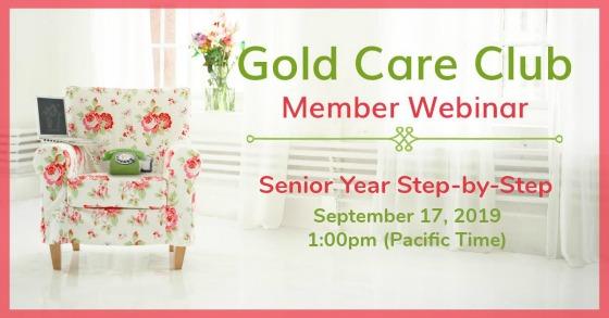 Gold Care Club Webinar: September 17, 2019